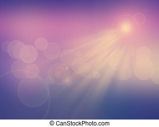 Abstract sunlight background with a vintage effect