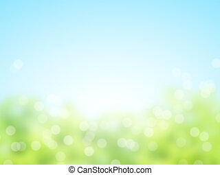 Abstract sunny blur spring background