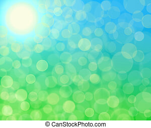 Abstract Sunny bokeh background.