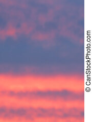 Abstract sunset color space