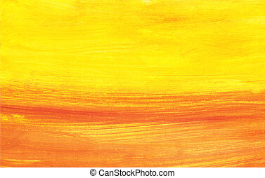 Abstract sunset - Hand painted background onto watercolour...