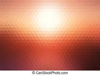 abstract sunset hexagonal mosaic background 2202