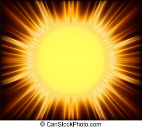 Abstract Sunshine - Background Illustration, Vector