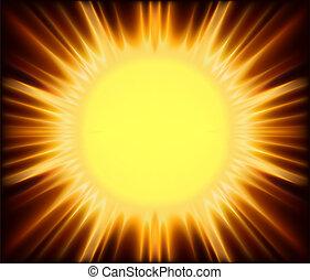 Abstract Sunshine - Background Illustration, Vector