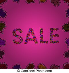 abstract superb picture - SALE Banner Card with Lettering. ...