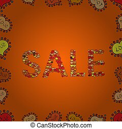 abstract superb picture - Sale. Ornate vector colorful frame...