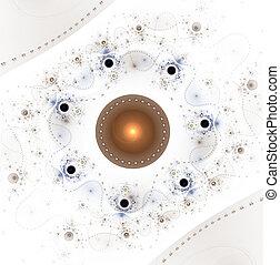 Abstract surreal magic machine, digital artwork for creative graphic design