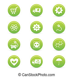 sustainability icons - abstract sustainability icons on a ...