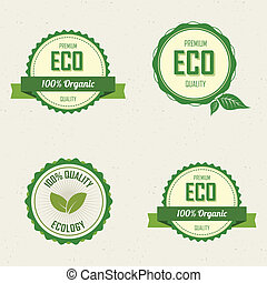 sustainability labels - abstract sustainability labels on a...