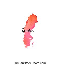 Abstract Sweden map