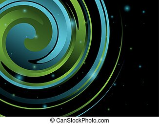 abstract swirl background - vector