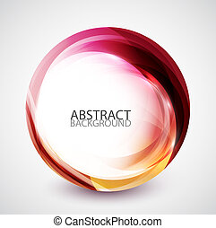 Abstract swirl energy circle - Colorful flowing energy...