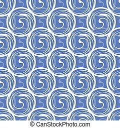 Abstract swirl seamless pattern