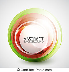 Abstract swirl sphere background - Vector abstract swirl...