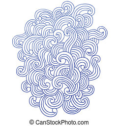 Abstract Swirl Waves Vector Design