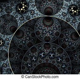 Abstract swirls in bright colors. ?omputer generated fractal design. A fractal is a never-ending pattern. Fractals are infinitely complex patterns that are self-similar across different scales.