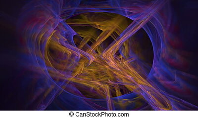 Abstract swirly texture motion background, fractal generated