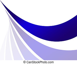An abstract design template with blue swoosh lines and plenty of copyspace.