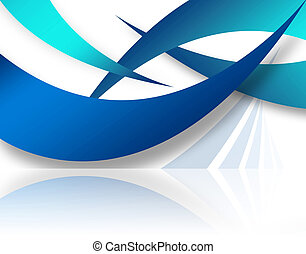 Abstract Swoosh Layout - A modern background layout with...