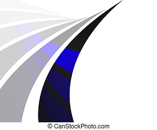 Abstract Swoosh Layout - An abstract design template with...
