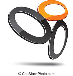 Abstract symbol. - Abstract design element. Vector ...