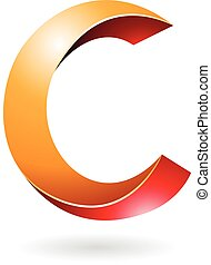 Abstract Symbol of Letter C - Design Concept of a Abstract...