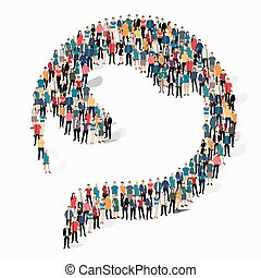 abstract  symbol people crowd