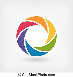 abstract symbol rainbow circle