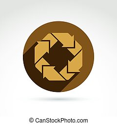 Abstract symbol, vector graphic design element, icon.