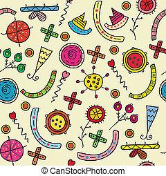 Abstract symbols seamless pattern