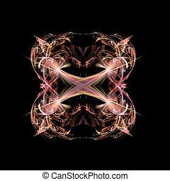 abstract, symmetrisch, fractal, backgr