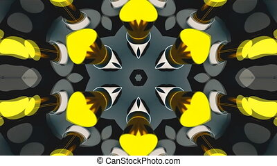 Abstract symmetry bright kaleidoscope, 3d render backdrop,...