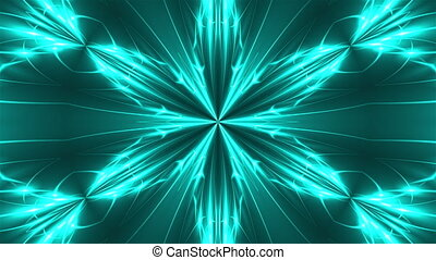 Abstract symmetry kaleidoscope - fractal lights, 3d render...