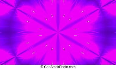 Abstract symmetry kaleidoscope - fractal lights, 3d rendering backdrop, computer generating background