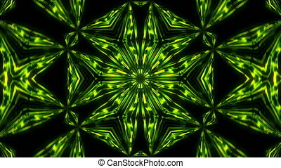 Abstract symmetry kaleidoscope hexahedron, 3d render...