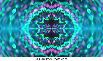 Abstract symmetry kaleidoscope like Mandala ornament, 3d...