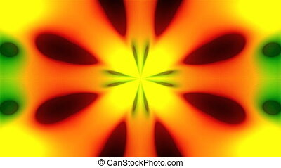 Abstract symmetry multi-colored kaleidoscope wiht fractal...