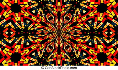 Abstract symmetry techlonogy kaleidoscope, 3d render...