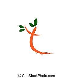 Abstract T letter symbol design vector illustration with leaf