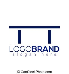Abstract table icon logo element. table logo template