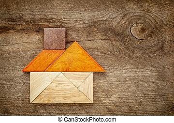 abstract, tangram, woning