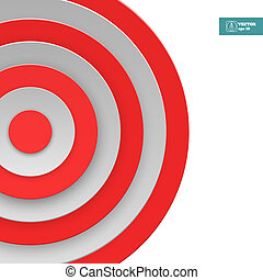 Abstract Target Background. Vector