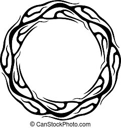 Abstract tattoo ring isolated on white background