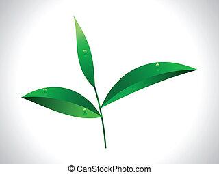 abstract tea leaf vector illustration