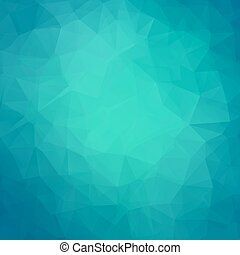 Abstract teal geometric triangle background. Vector...