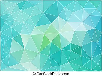 abstract teal low poly background