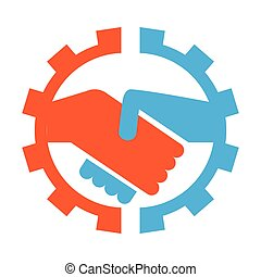 Abstract teamwork logo. Business concept