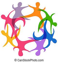 abstract teamwork symbol