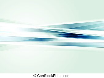 Abstract tech background with blue stripes