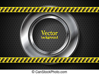 Abstract tech background with danger tape